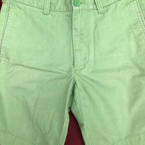 J Crew Green Faded wash Shorts Sz 32 100% Cotton